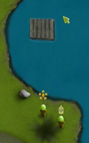 You can swim. If you are in water, the aliens won't see you.