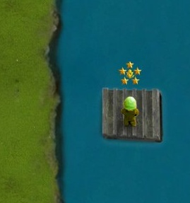 Can you guess how it's possible to drive the raft?